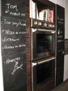 Cuisine tableau noir - Ecrire sur un tableau noir ...