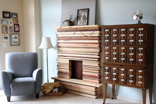 la photo du jour une fausse chemin e peu de frais. Black Bedroom Furniture Sets. Home Design Ideas