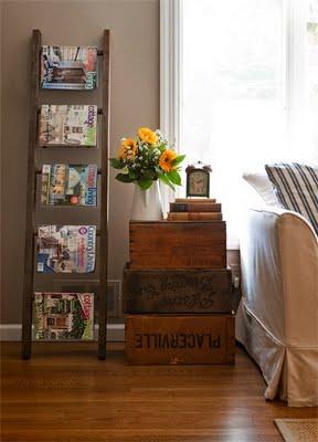 une vieille chelle 10 id es d co d conome. Black Bedroom Furniture Sets. Home Design Ideas