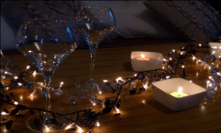 d coration de table de no l de derni re minute d conome. Black Bedroom Furniture Sets. Home Design Ideas