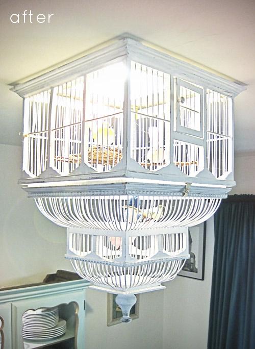 La photo du jour: le luminaire cage à oiseaux - Déconome