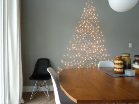 sapin de Noël guirlande lumineuse