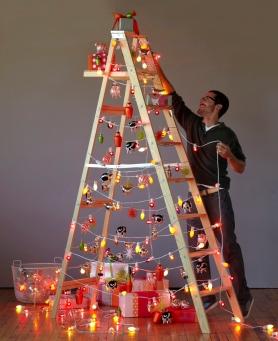 Decorer Une Echelle En Bois Pour Noel