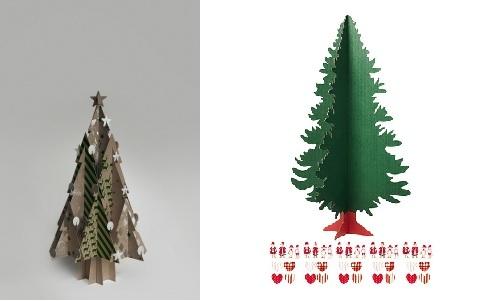 sapin de Noël en cartin
