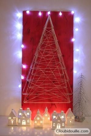 sapin de Noël en string art