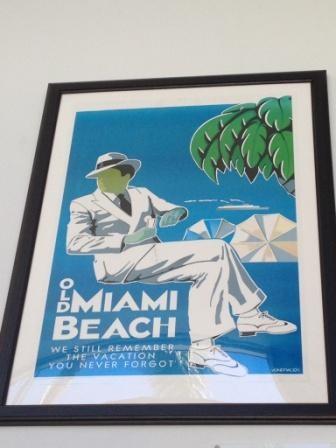 Affiche vintage miami art deco gift shop