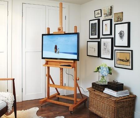 un chevalet comme support t l d conome. Black Bedroom Furniture Sets. Home Design Ideas