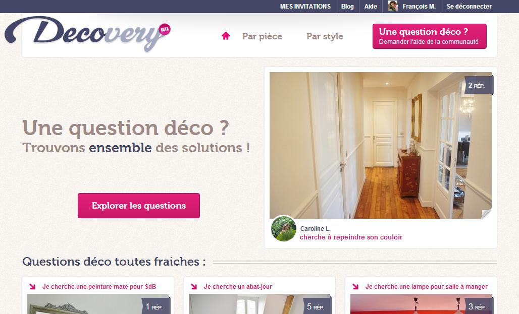 Decovery site question déco gratuit